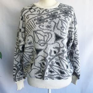 Vintage Womens Sweater Sz S-M Crewneck Geometric